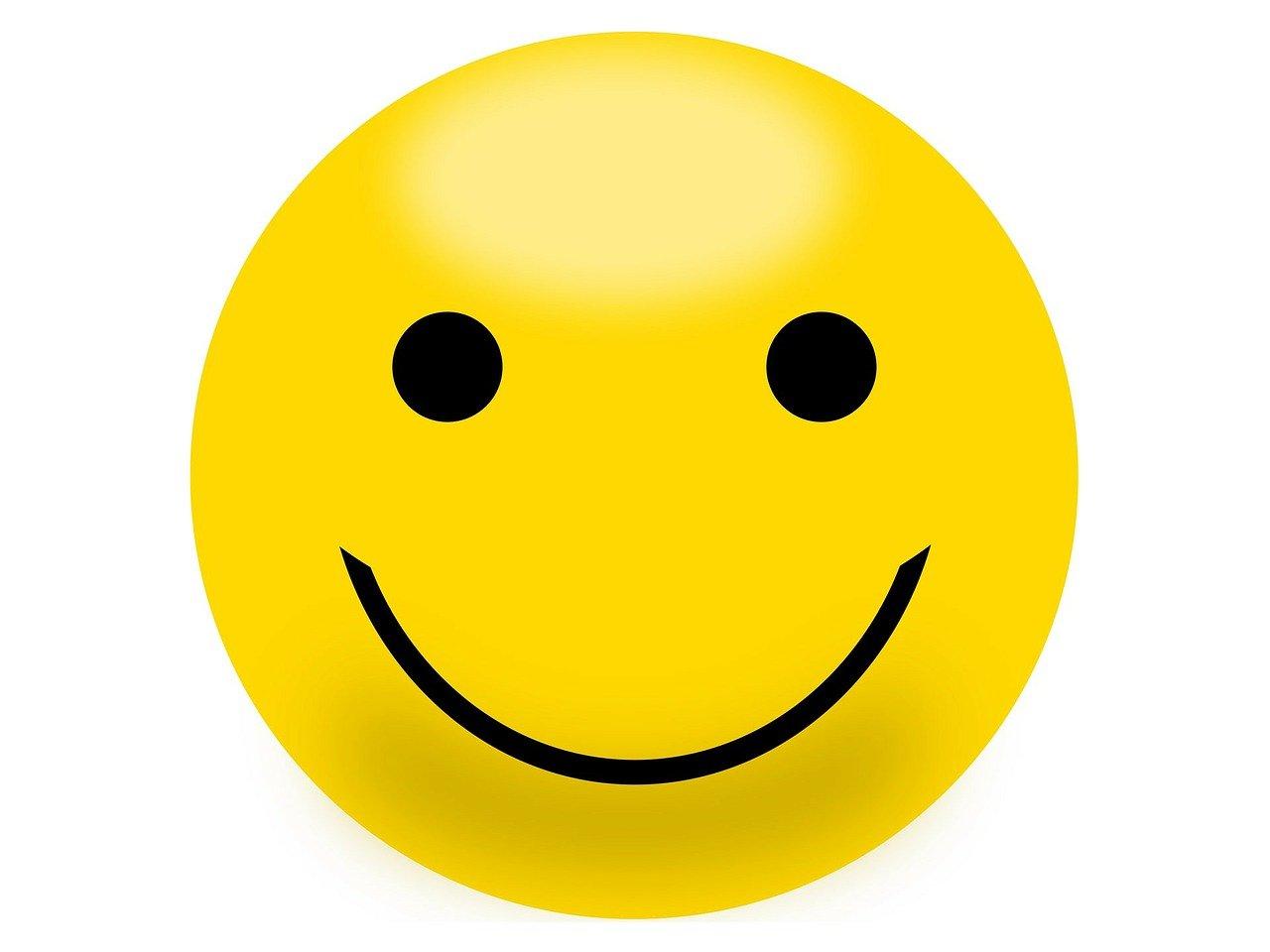 smiley, yellow, happy